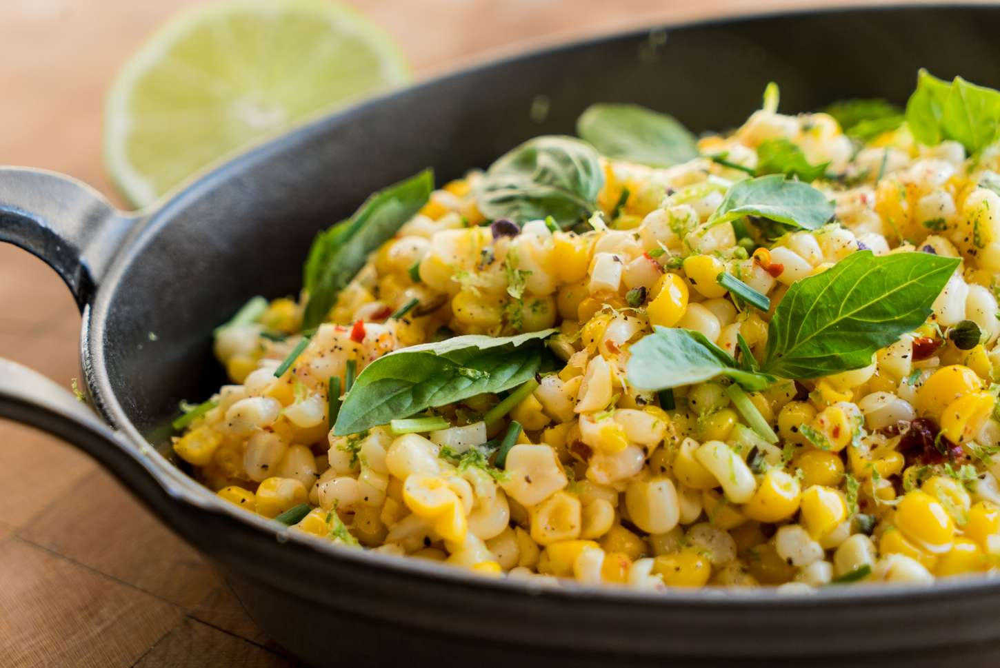 Crisp Corn With Butter and Fresh Herbs