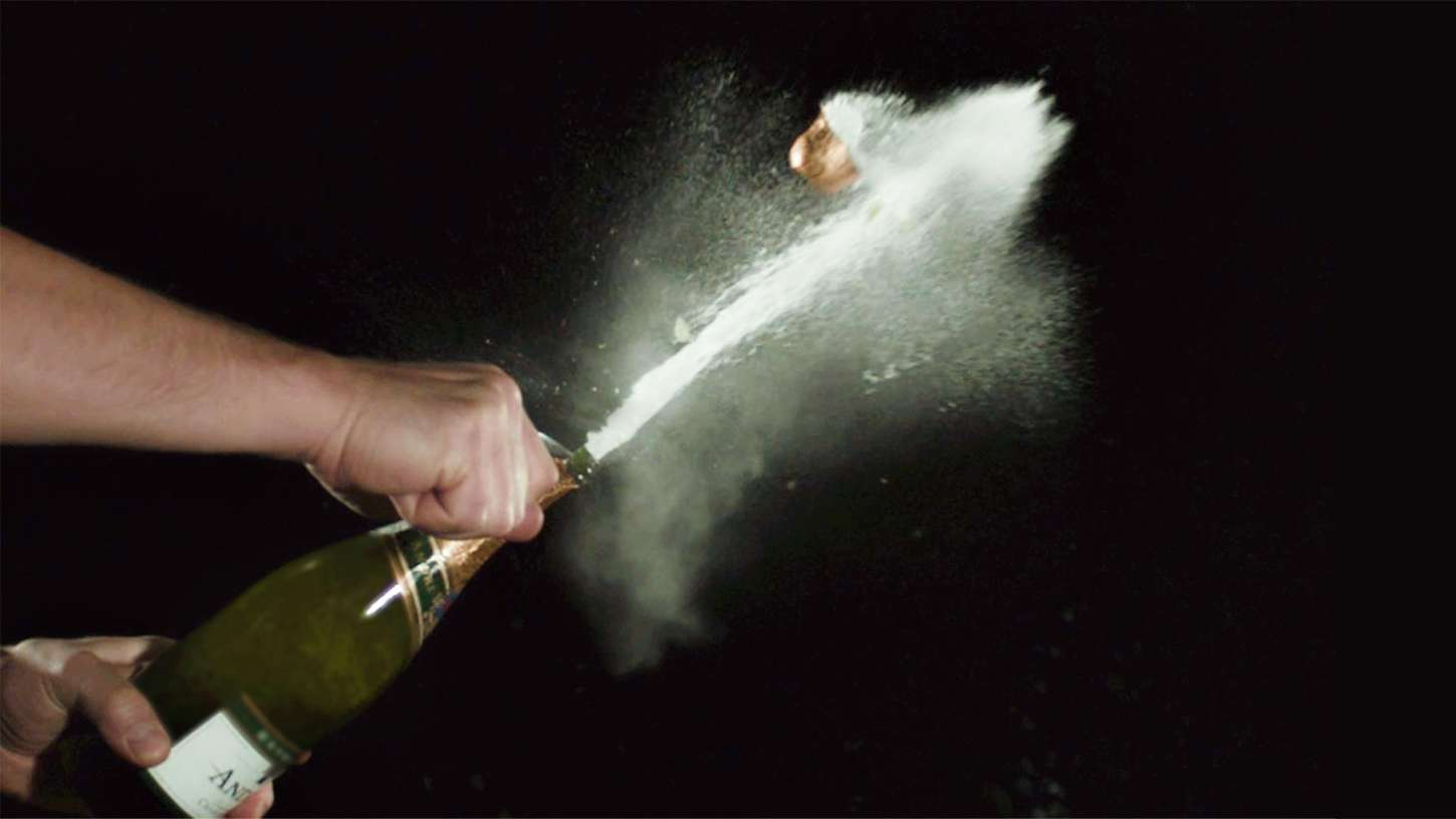 how to saber a champagne bottle with writer neal stephenson chefsteps