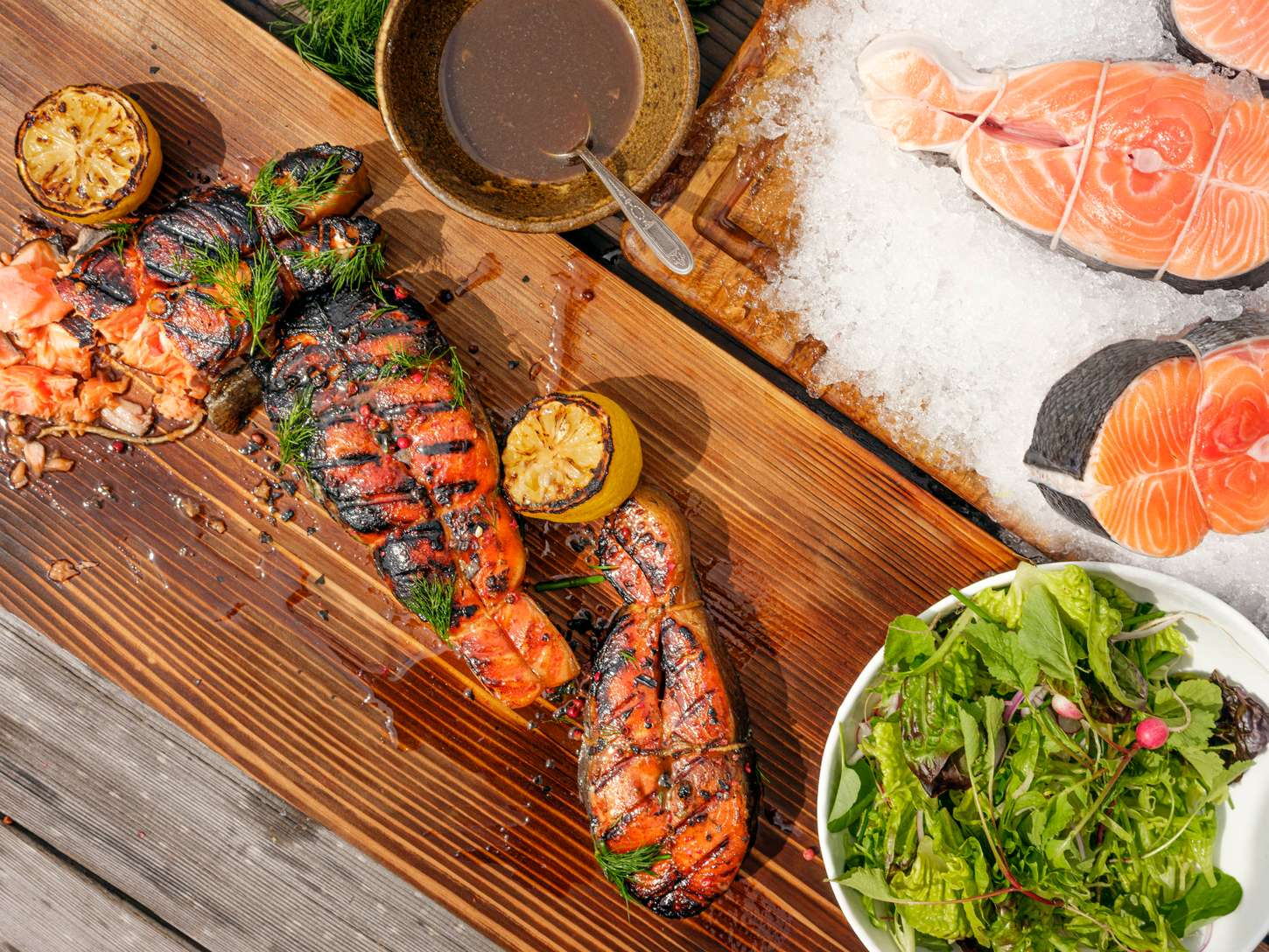 The Ultimate Grilled Salmon Steak Chefsteps