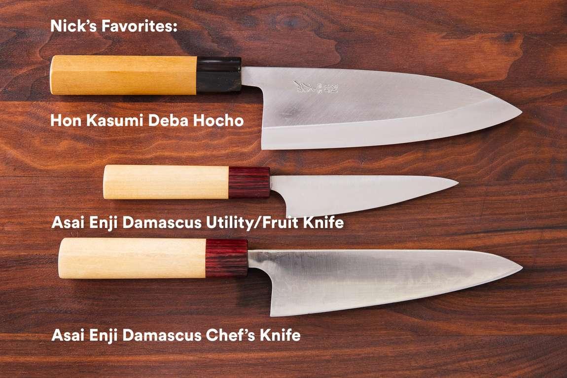 the chefsteps kitchen team shares their favorite knives chefsteps. Black Bedroom Furniture Sets. Home Design Ideas